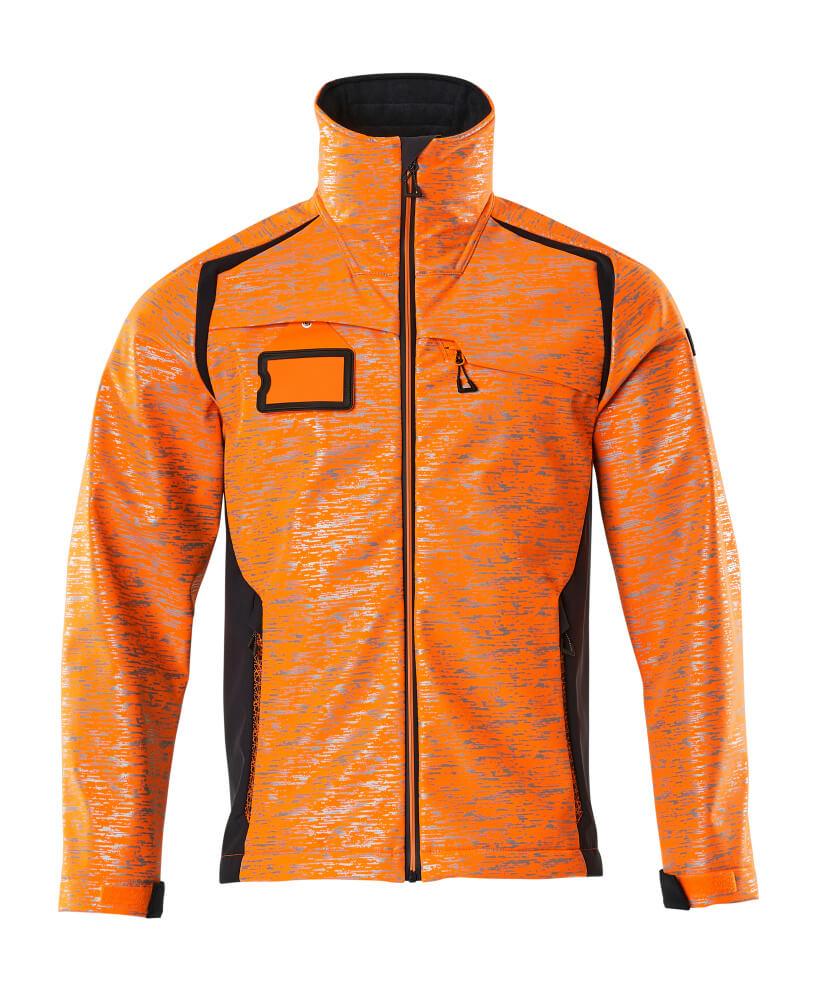 19202-291-14010 Softshell-takki - hi-vis oranssi/tumma laivastonsininen