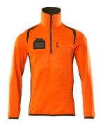 19303-316-1433 Fleecepusero lyhyellä vetoketjulla - hi-vis oranssi/sammaleenvihreä