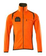 19403-316-1433 Fleecepusero vetoketjulla - hi-vis oranssi/sammaleenvihreä