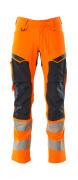 19479-711-14010 Housut polvitaskuilla - hi-vis oranssi/tumma laivastonsininen