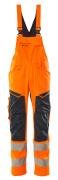 19569-236-14010 Avosuoja polvitaskuilla - hi-vis oranssi/tumma laivastonsininen