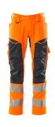 19579-236-14010 Housut polvitaskuilla - hi-vis oranssi/tumma laivastonsininen