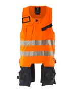 19589-711-14010 Työkaluliivi - hi-vis oranssi/tumma laivastonsininen