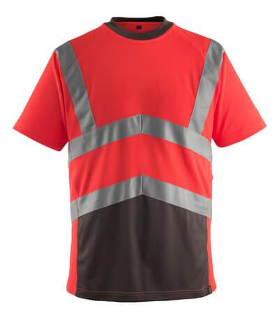 50118-949-A49 T-Paita - hi-vis punainen/tumma antrasiitti
