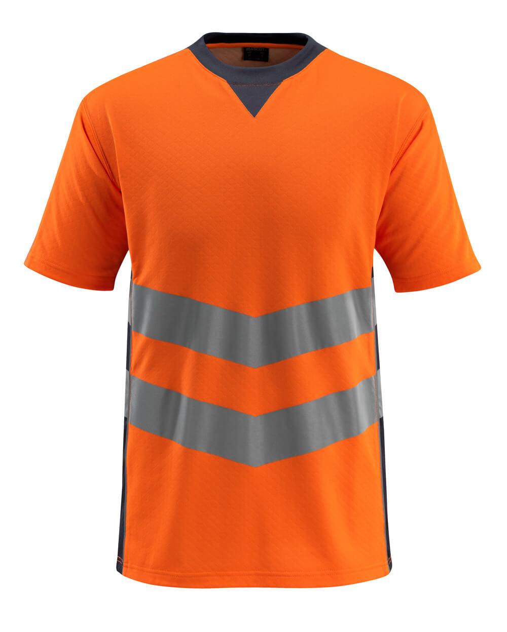 50127-933-14010 T-Paita - hi-vis oranssi/tumma laivastonsininen