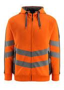 50138-932-1418 Huppari vetoketjulla - hi-vis oranssi/tumma antrasiitti