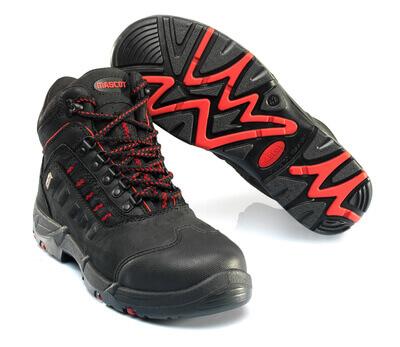 F0025-901-0902 Turvasaappaat - musta/punainen