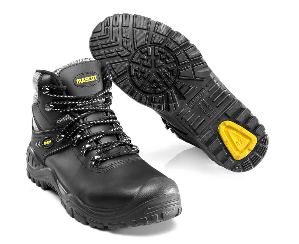 F0074-902-0907 Turvasaappaat - musta/keltainen
