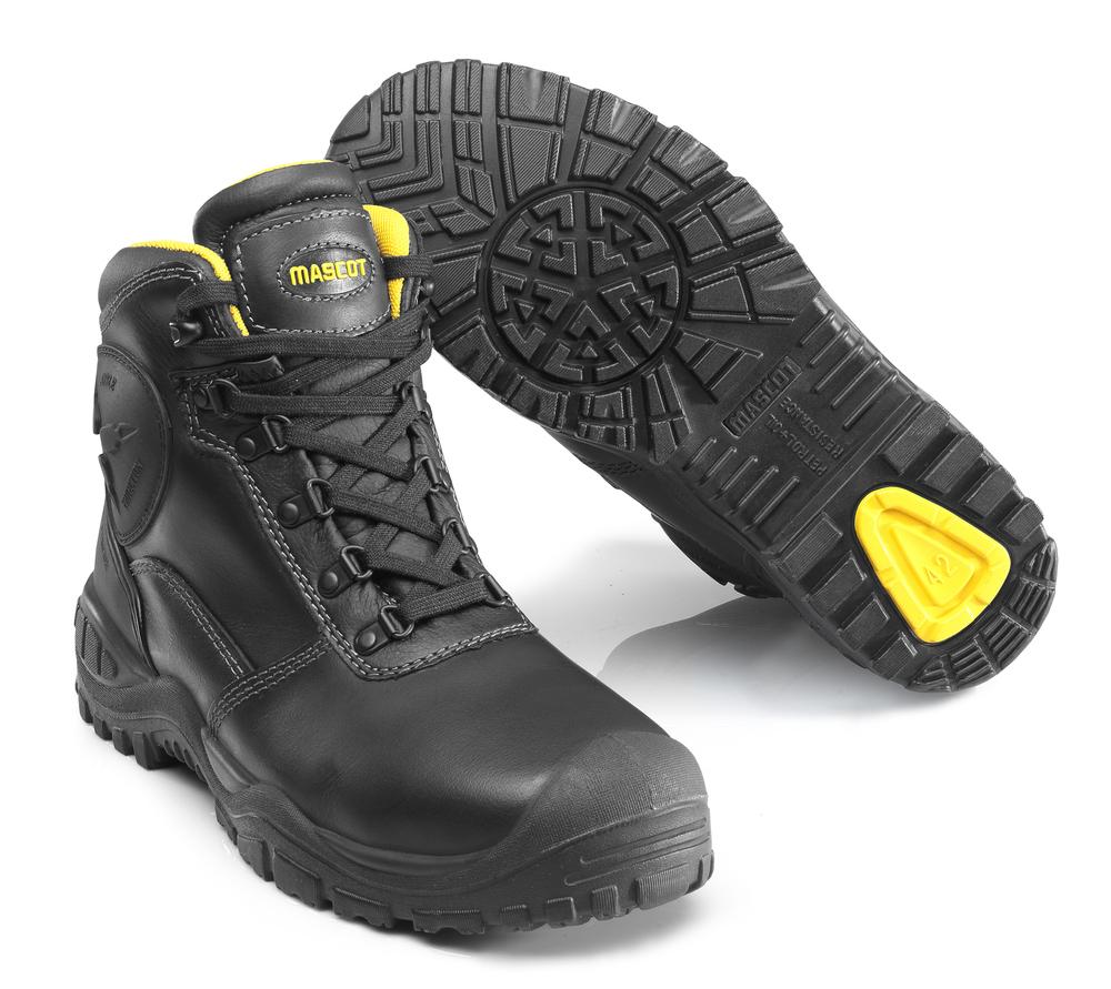 F0165-902-0907 Turvasaappaat - musta/keltainen